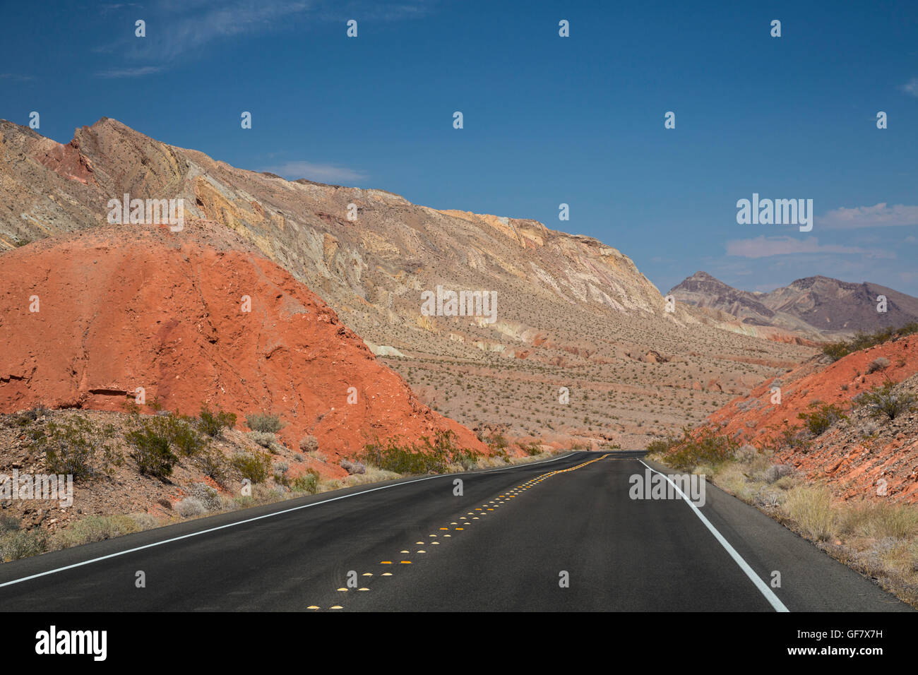 Las Vegas, Nevada - The Northshore Road in Lake Mead National Recreation Area. - Stock Image