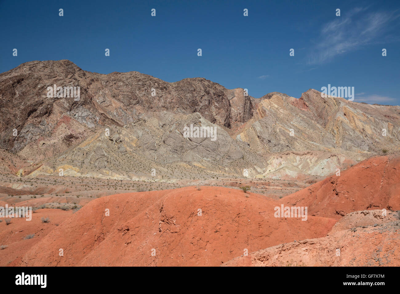 Las Vegas, Nevada - Colorful rocks near the Northshore Road in Lake Mead National Recreation Area. - Stock Image