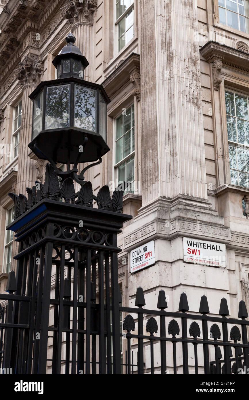 Downing Street, Westminster, London, England, U.K. - Stock Image