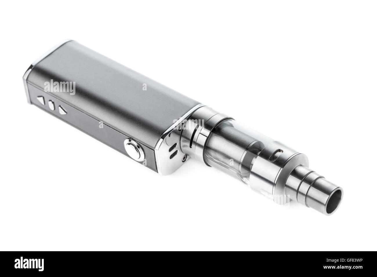 electronic cigarette isolated on white background - Stock Image