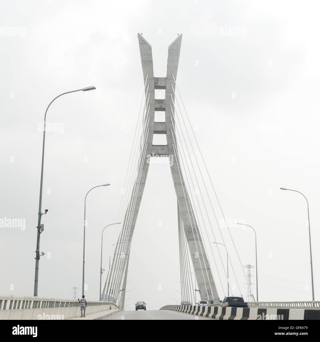 Lekki-Ikoyi Bridge, Lagos Nigeria, West Africa - Stock Image