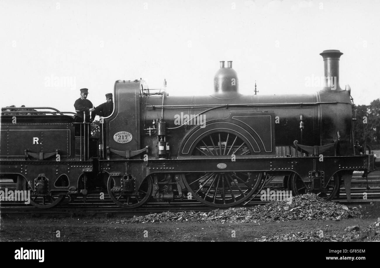 NBR 2-2-2 No.217 on shed - Stock Image