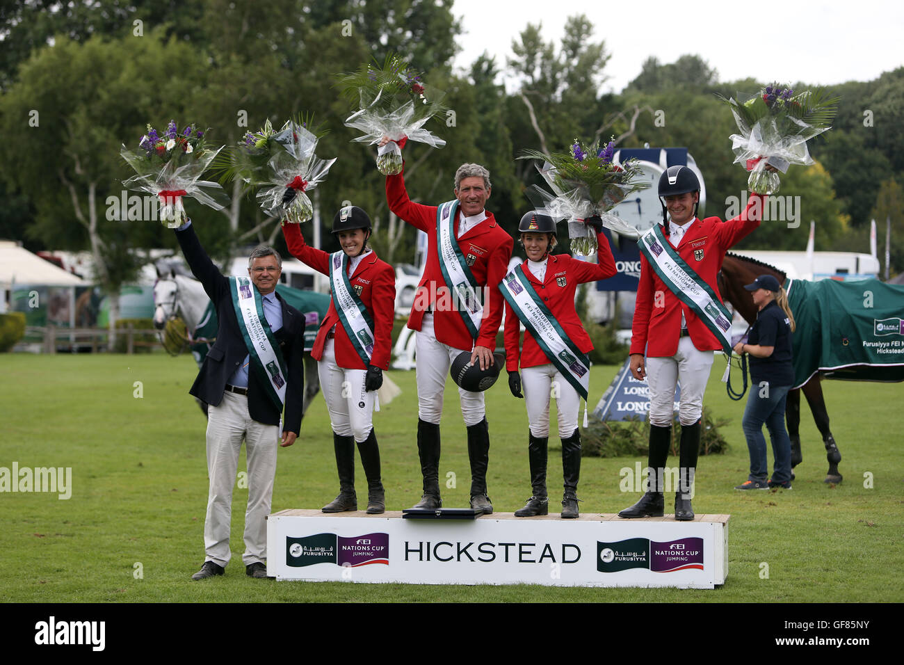 Germany win the Furusiyya FEI Nations Cup during day four of the Longines Royal International Horse Show at Hickstead, Stock Photo