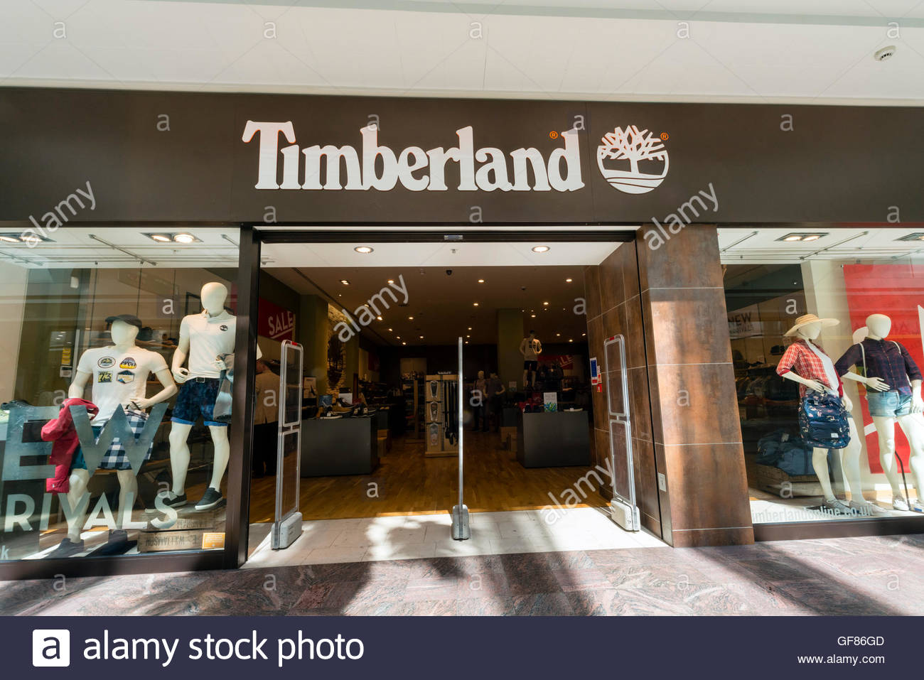 speical offer best choice temperament shoes Timberland store, UK Stock Photo: 112662829 - Alamy