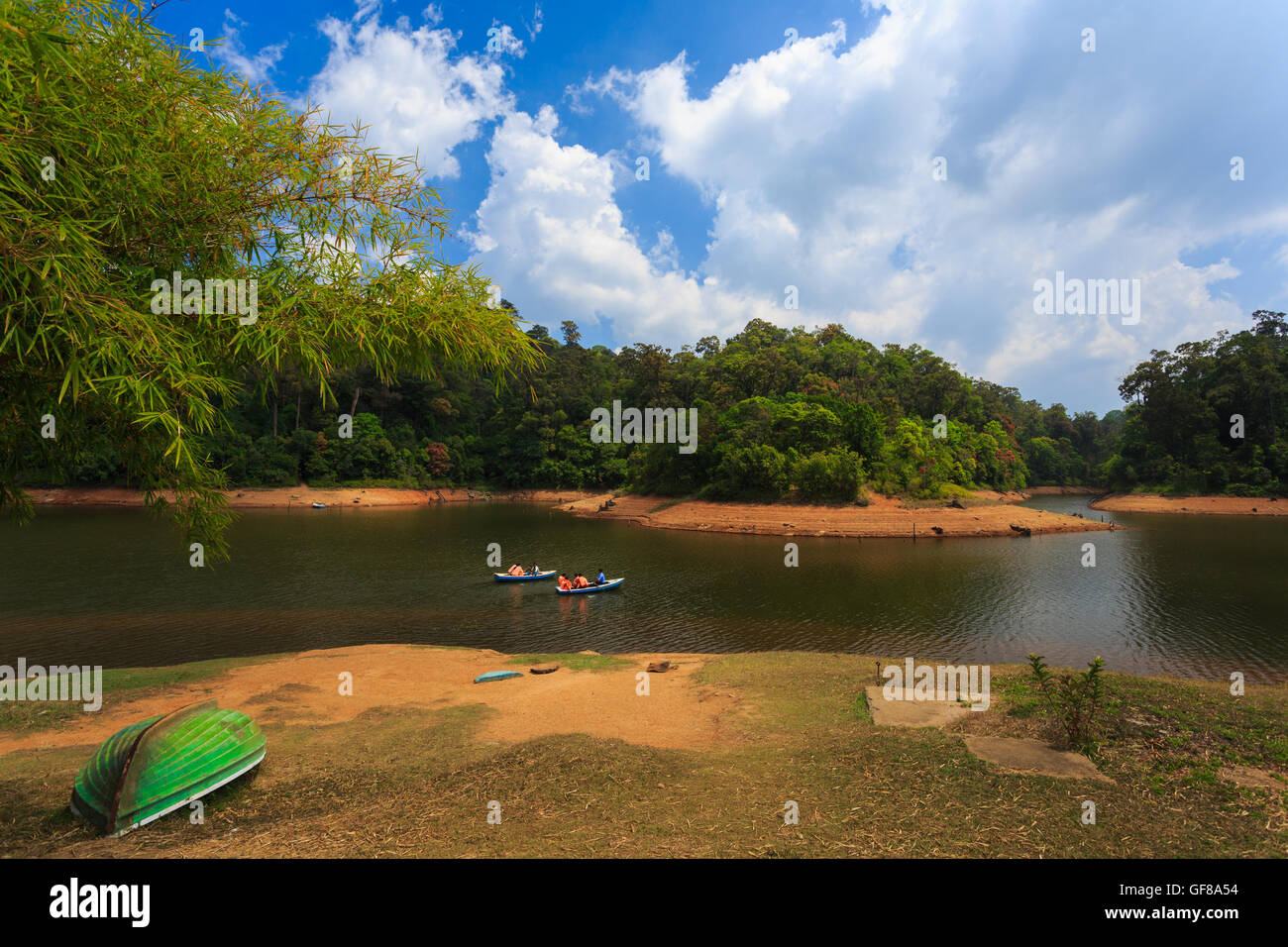 Boating at Gavi (near Periyar/Thekkady - Kerala) - Stock Image