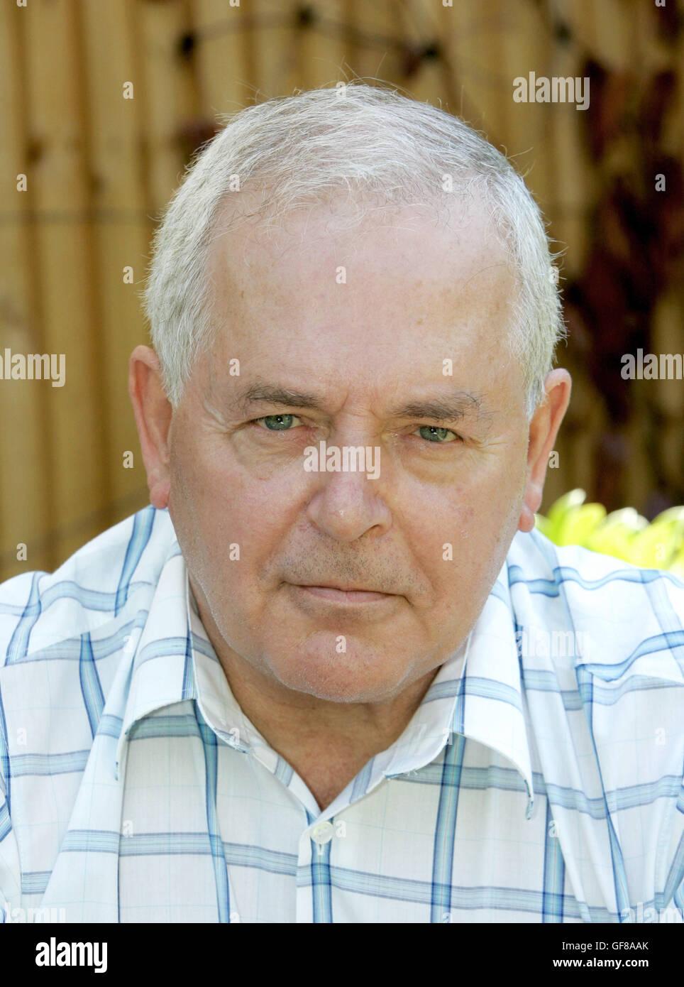 Professor Jim Ryan OStJ MCh FRCS DMCC at his home in Farnborough Hants after the London bombings, Britain 10.07.05. Stock Photo