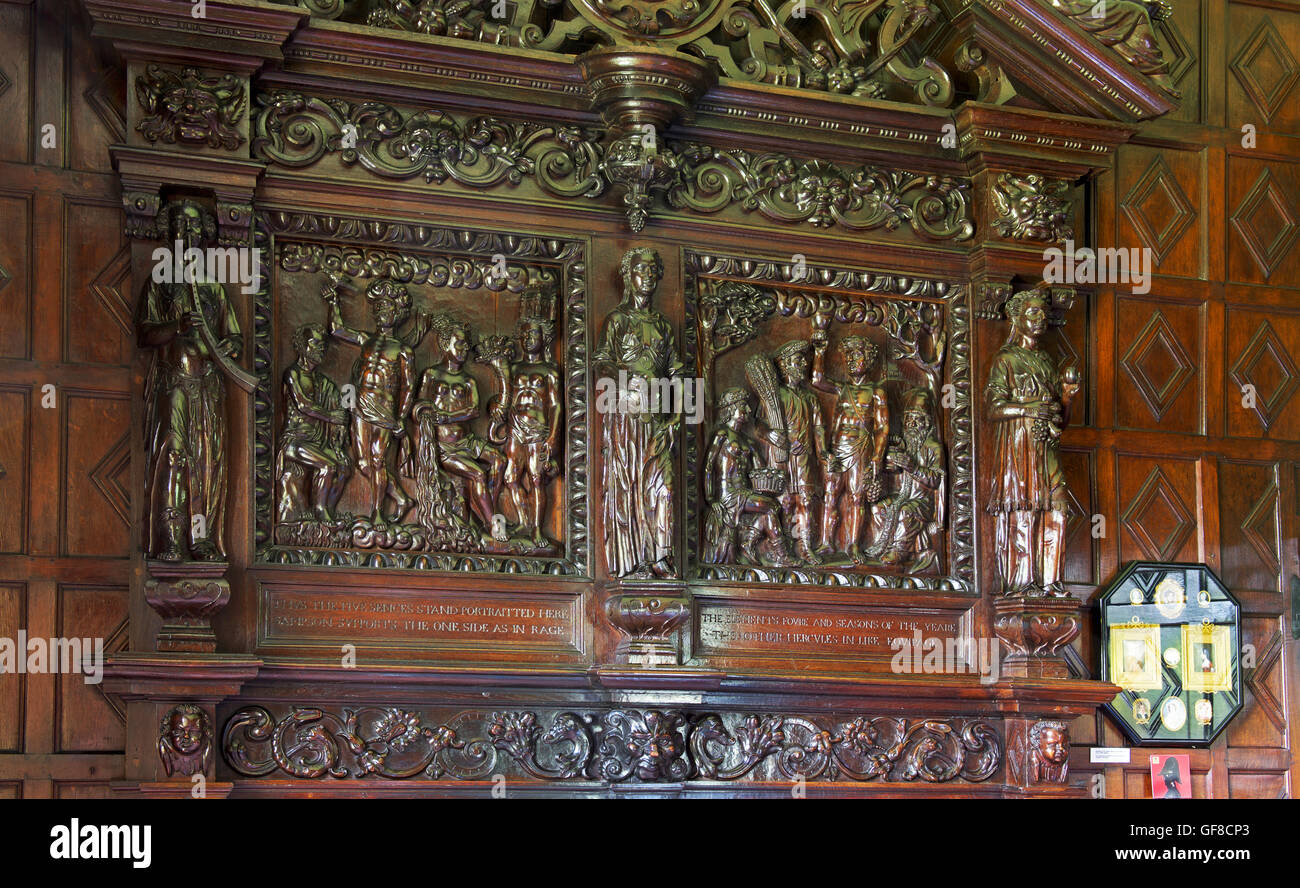 The interior of Levens Hall, South Lakeland, Cumbria, England UK Stock Photo