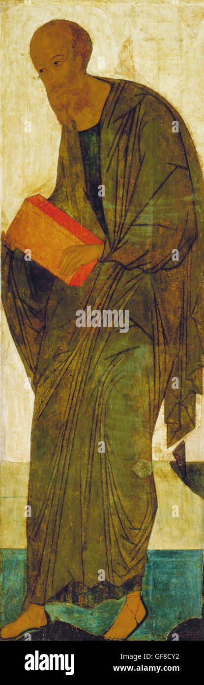 Andrei Rublev - St Paul. From Deisus Tier - Stock Image