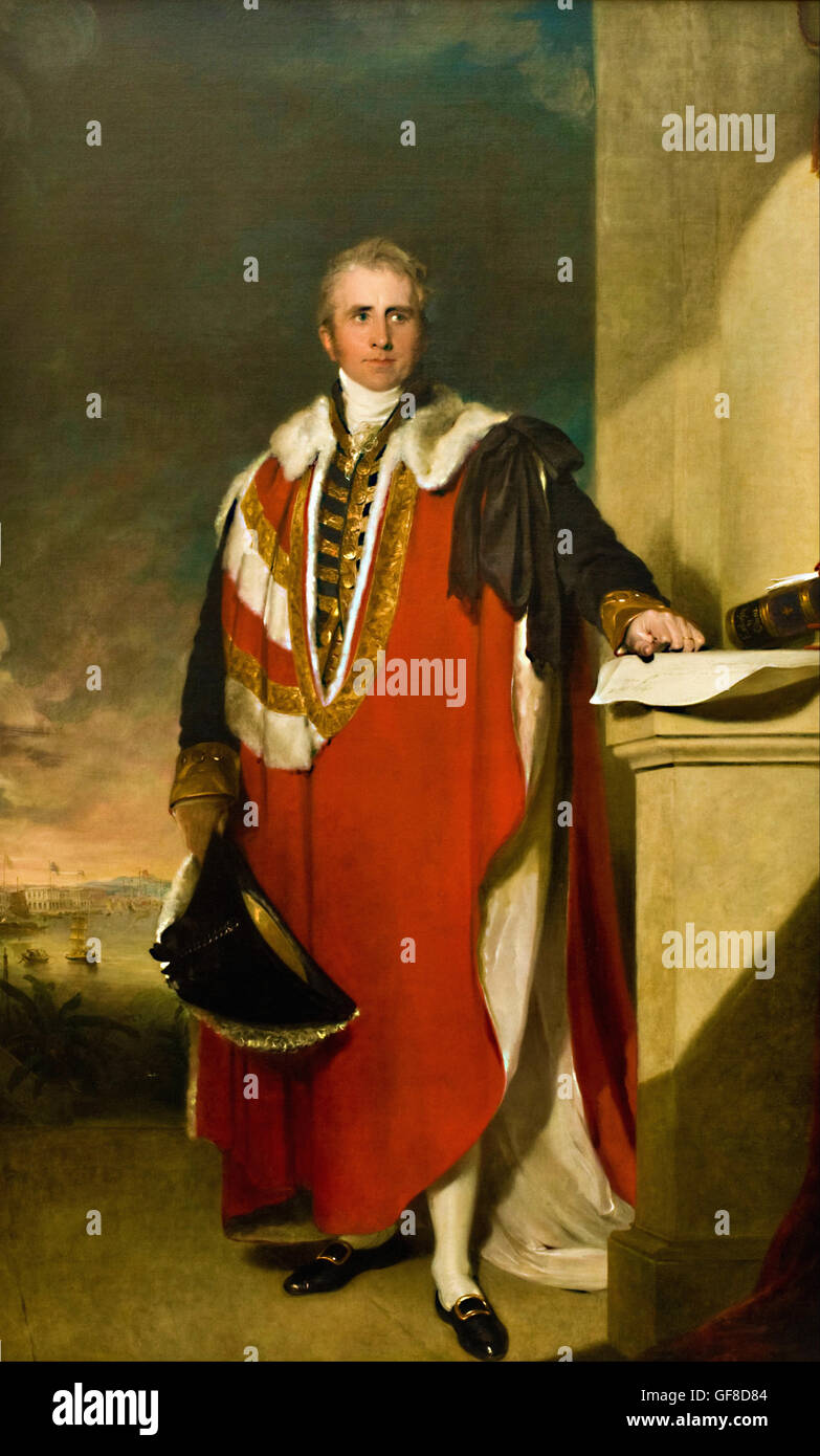 Sir Thomas Lawrence - Lord Amherst - Stock Image