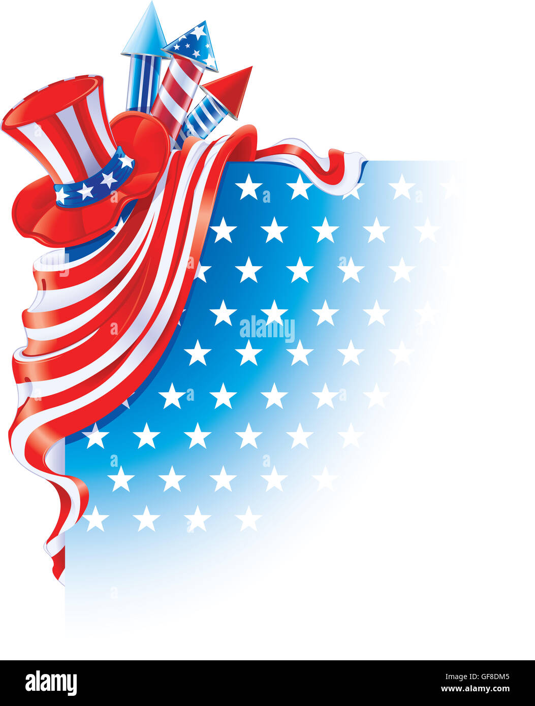 Fourth of July background - Stock Image