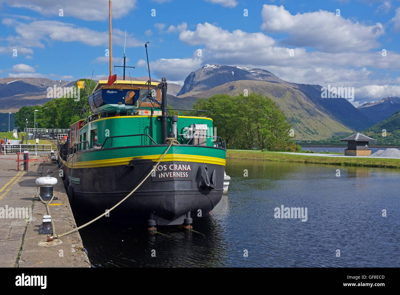 A local sailing club Regatta from Fort William entering the sea lock at Corpach before making for Loch Ness.  SCO - Stock Image