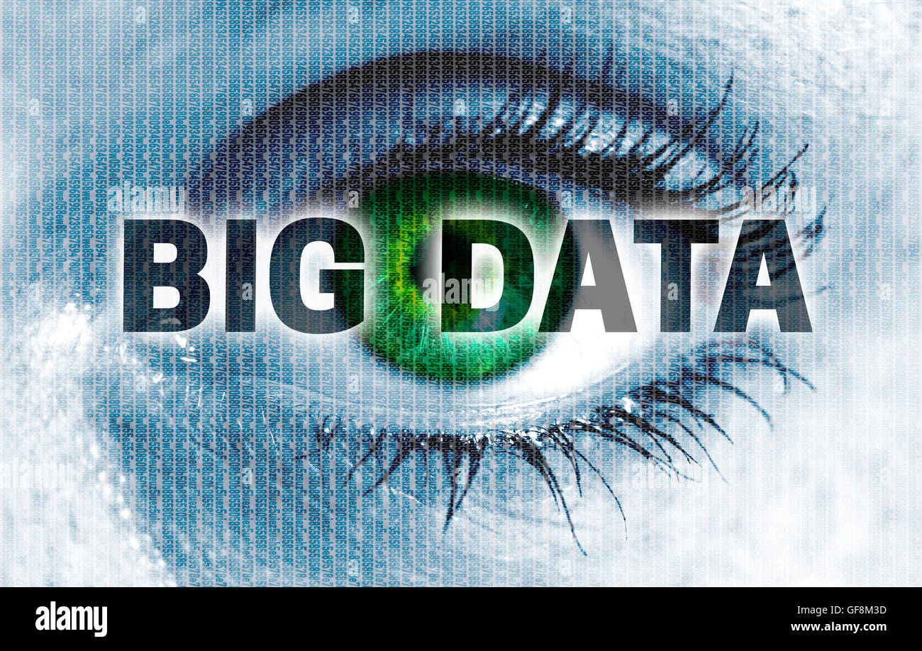 Big data eye looks at viewer concept. - Stock Image