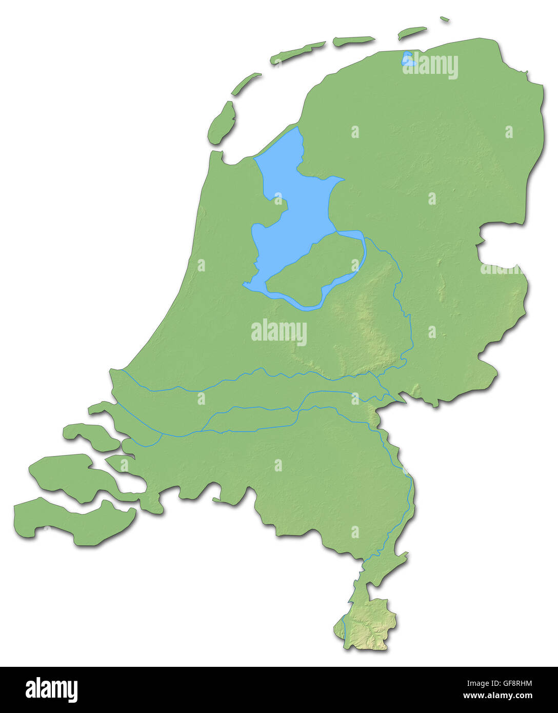 Netherlands map illustration stock photos netherlands map relief map of netherlands with shaded relief stock image publicscrutiny Gallery