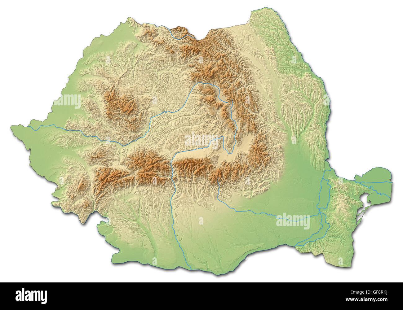 Romania map relief atlas stock photos romania map relief atlas relief map of romania with shaded relief stock image gumiabroncs Choice Image