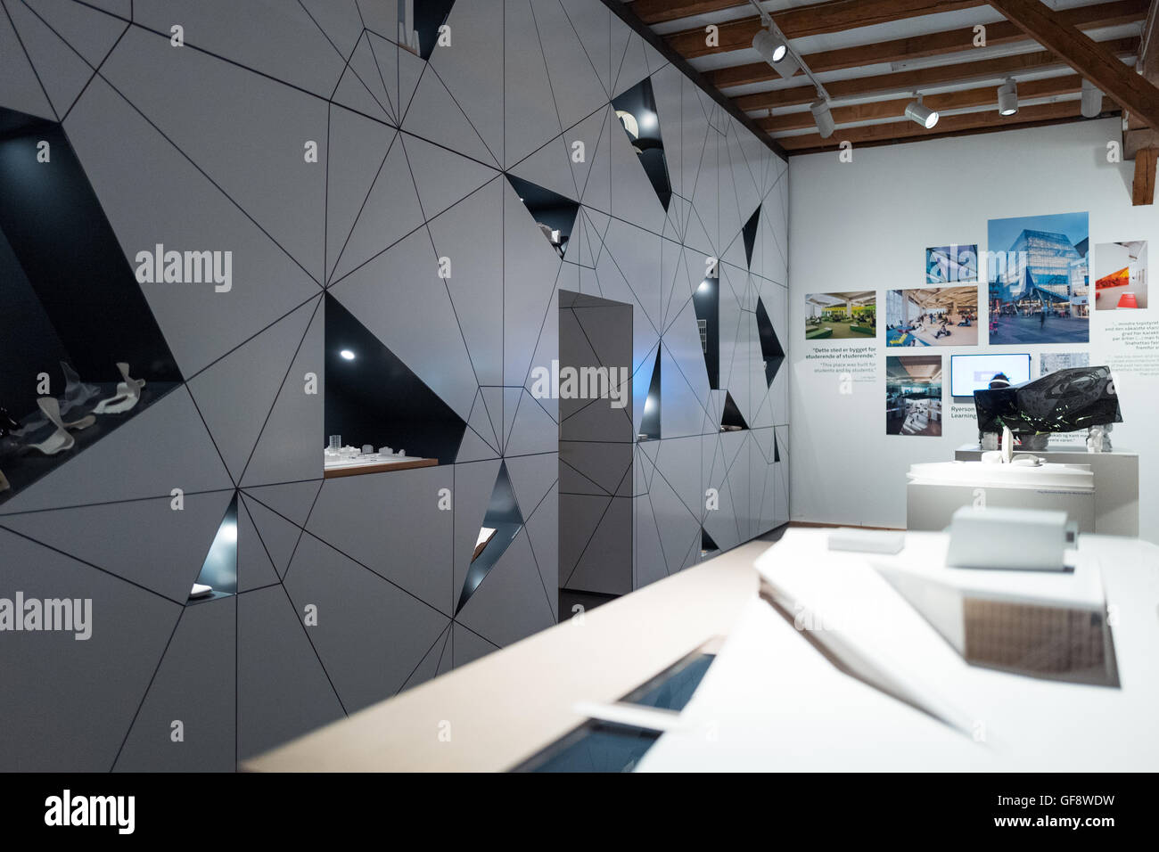 Copenhagen, Denmark - July 22, 2015: A hall of the Danish Architecture Centre - Stock Image