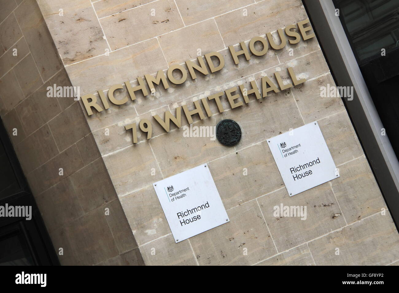 Department of Health, Richmond House, Whitehall, London, England, Great Britain, United Kingdom, UK, Europe - Stock Image