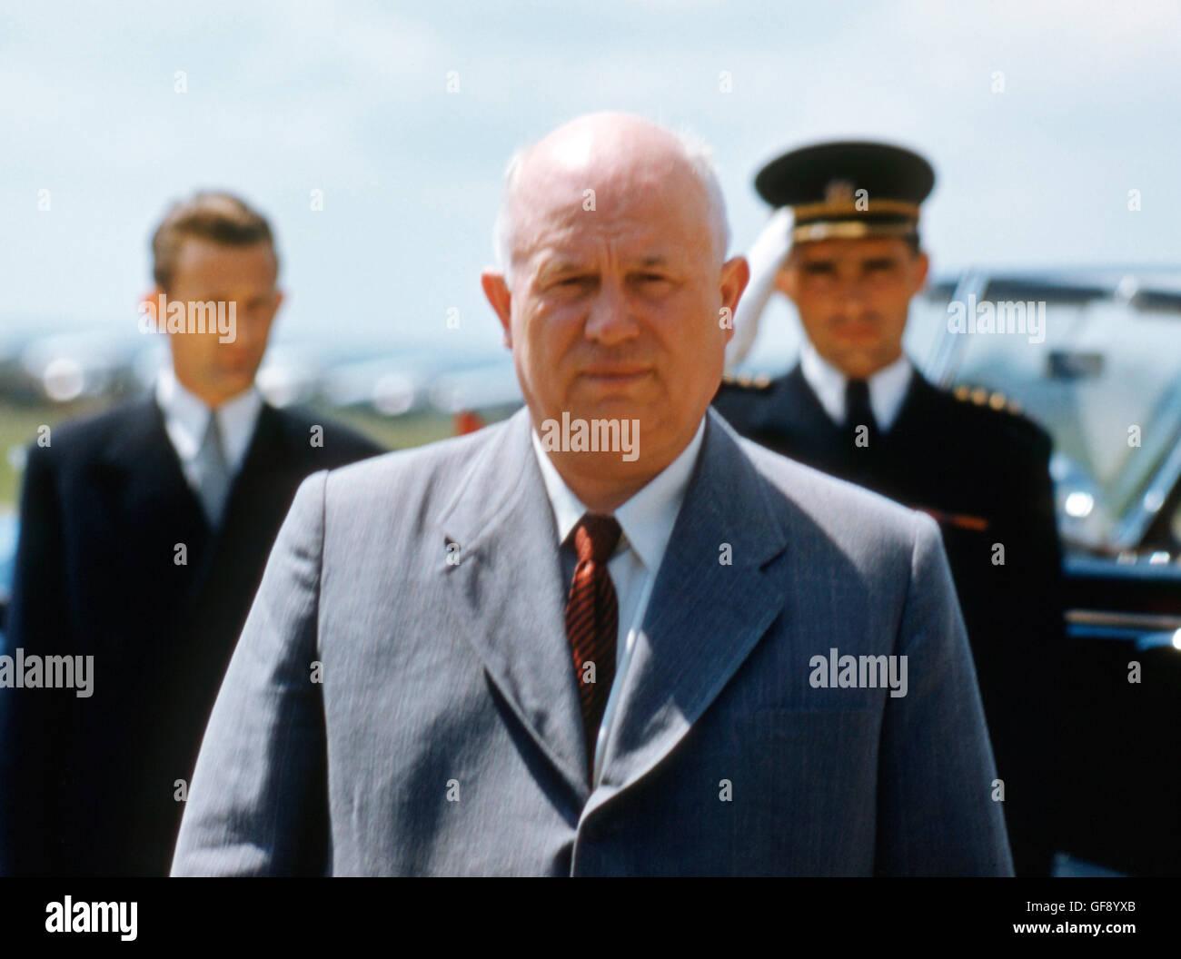 Nikita Khrushchev in Belgrade, 1955 - Stock Image