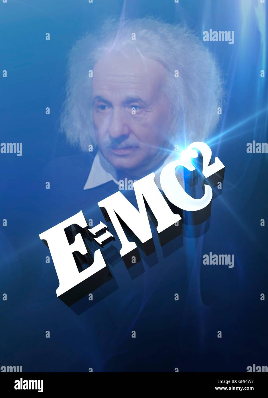 Einstein's formula, conceptual illustration. - Stock Image