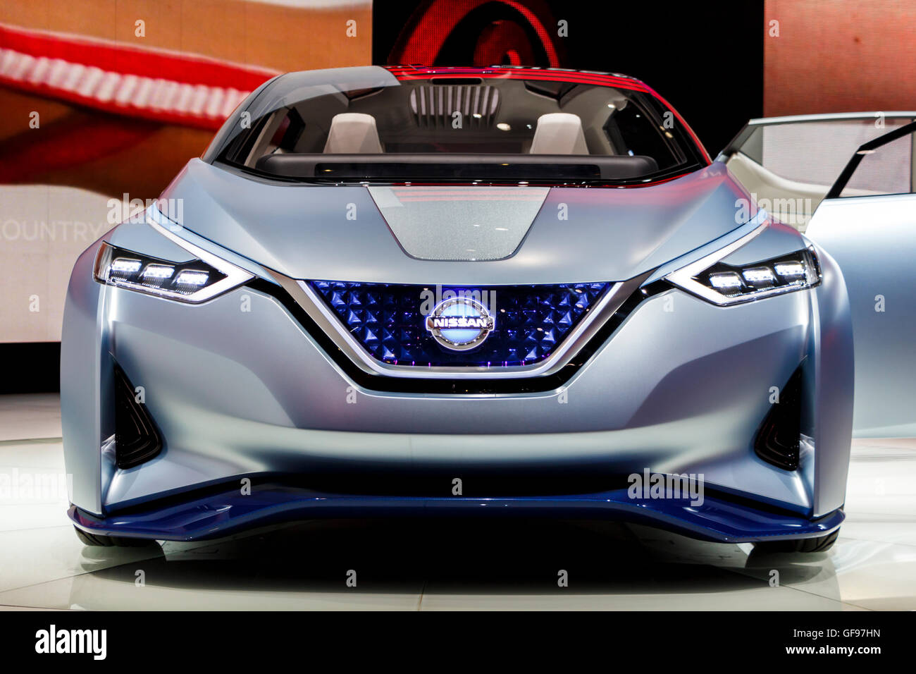 Nissan IDS Concept Car. Taken at 86th International Auto Show, Geneva - Stock Image