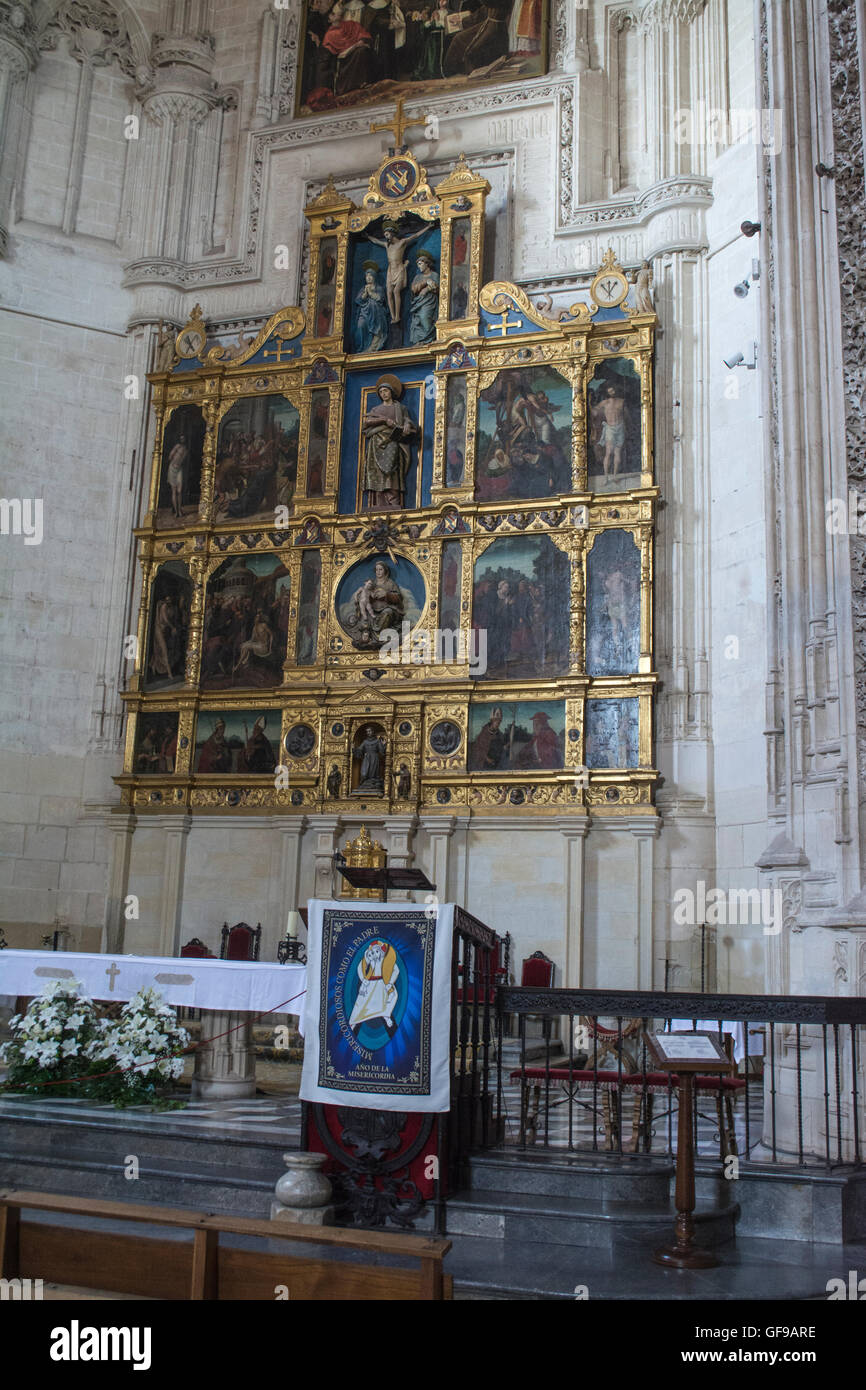 Icons in the Monastery of San Juan de los Reyes in Toledo Spain - Stock Image
