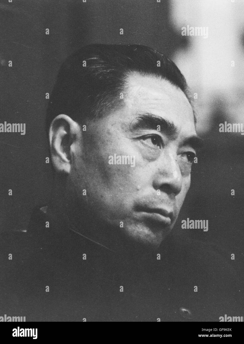 A portrait of Chou En-Lai, the Premiere of the People's Republic of China,1957. - Stock Image