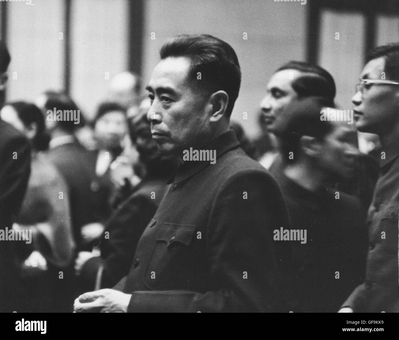 Chou En-Lai at a government reception, 1957. - Stock Image
