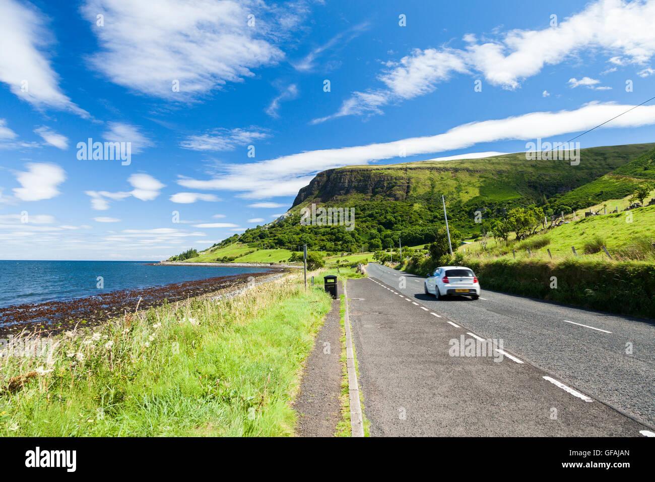 Antrim Coast, Northern Ireland, UK, 29th July 2016. UK weather: A day of glorious sunshine on the North Antrim Coast Stock Photo