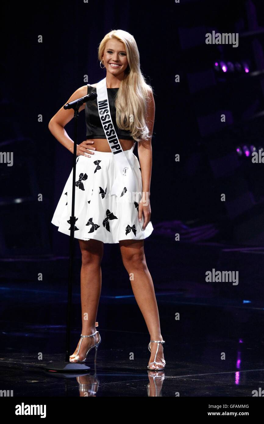 Las Vegas, NV, USA. 29th July, 2016. Miss Mississippi Teen USA, Lauren Rymer in attendance for The 2016 MISS TEEN - Stock Image