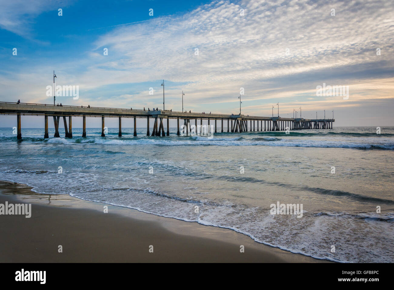The pier in Venice Beach, Los Angeles, California. - Stock Image