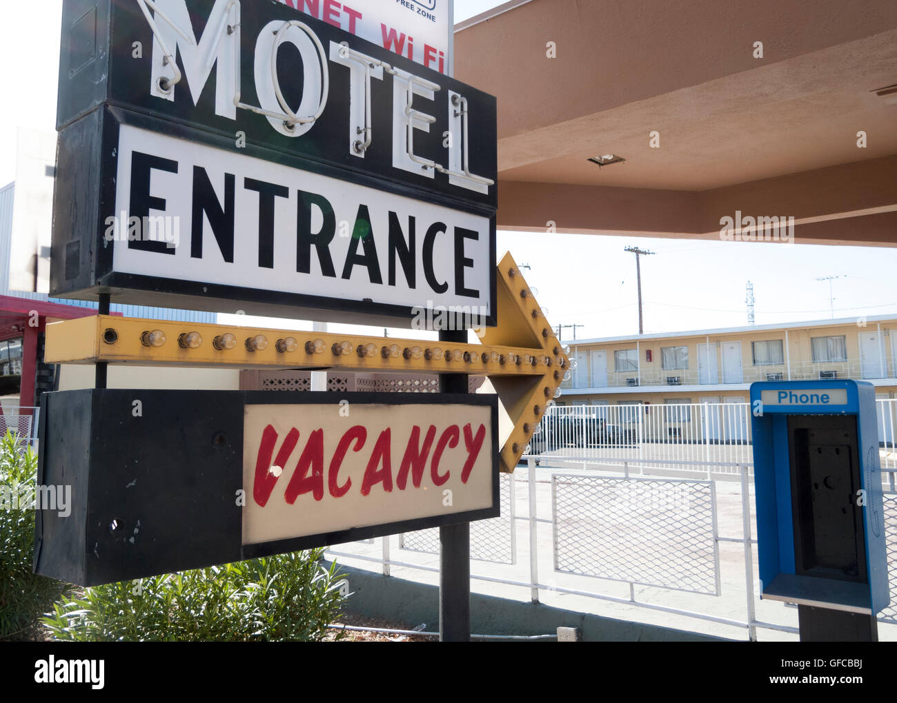 Motel Sign, Las Vegas, Nevada, USA 2010-02-17 1:49:16 PM - Stock Image
