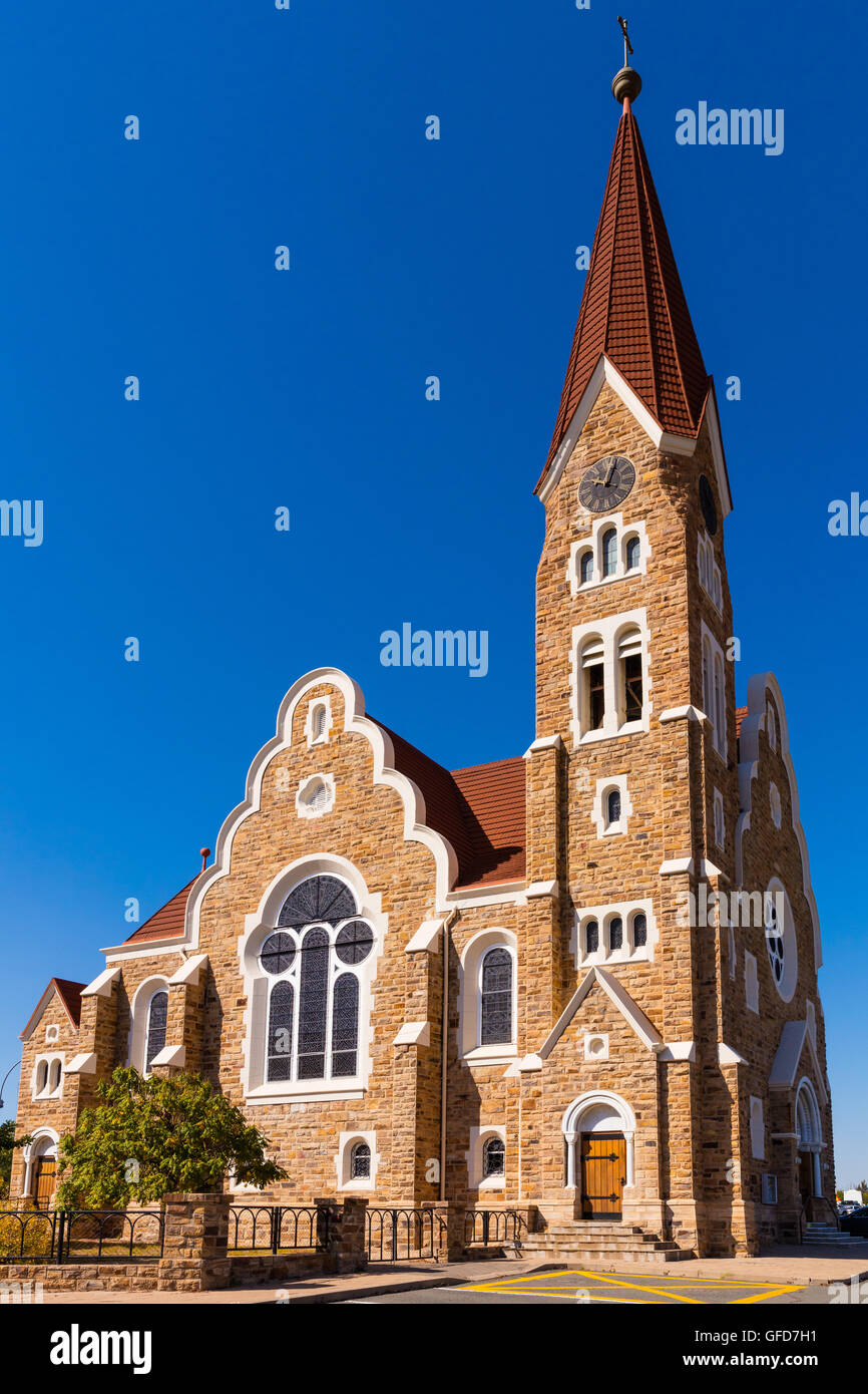 The Christ Church (or Christuskirche) is a historic landmark and Lutheran church in Windhoek, Namibia.  After the - Stock Image