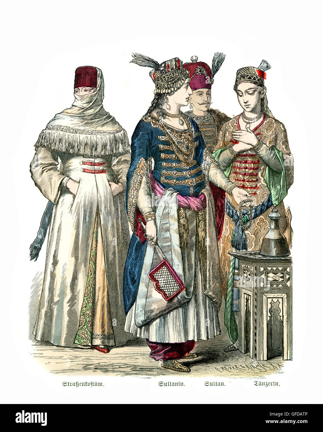 Fashions Of Ottoman Turkey 17th And 18th Century Womens Street