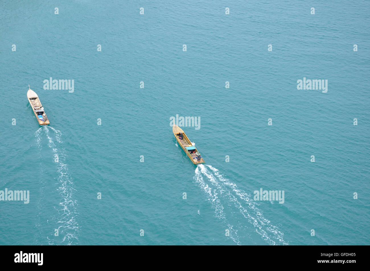 Fishing Boats in the South China Sea - Stock Image