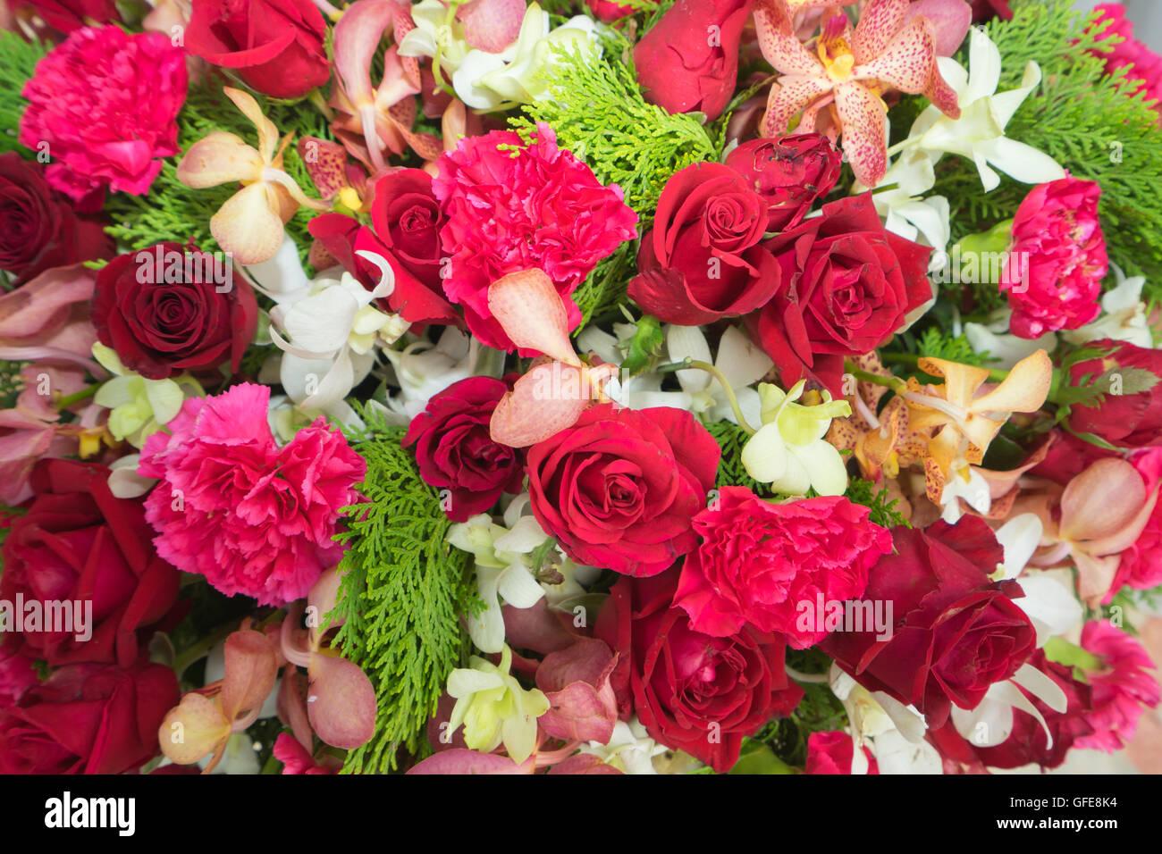 Colorful flowers fake art background Stock Photo: 112796184 - Alamy