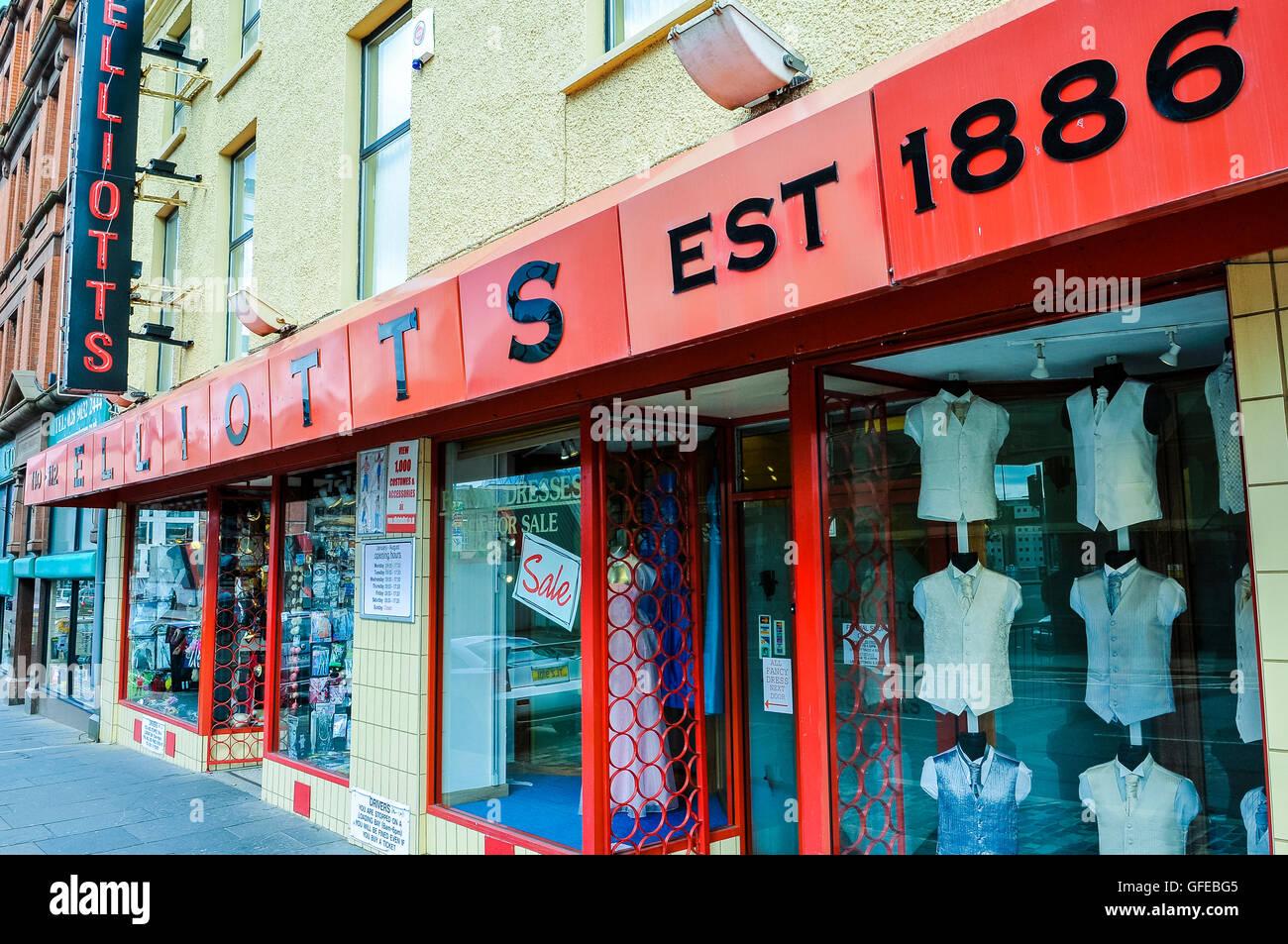 Elliotts fancy dress hire shop, Belfast Stock Photo