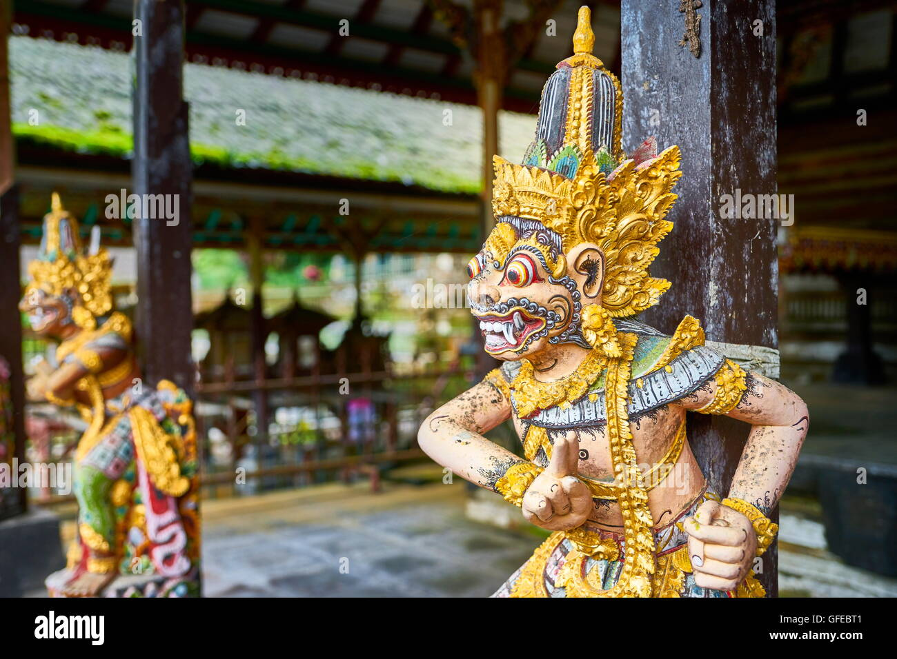 God statue at Pura Gunung Kawi Temple, Bali, Indonesia - Stock Image