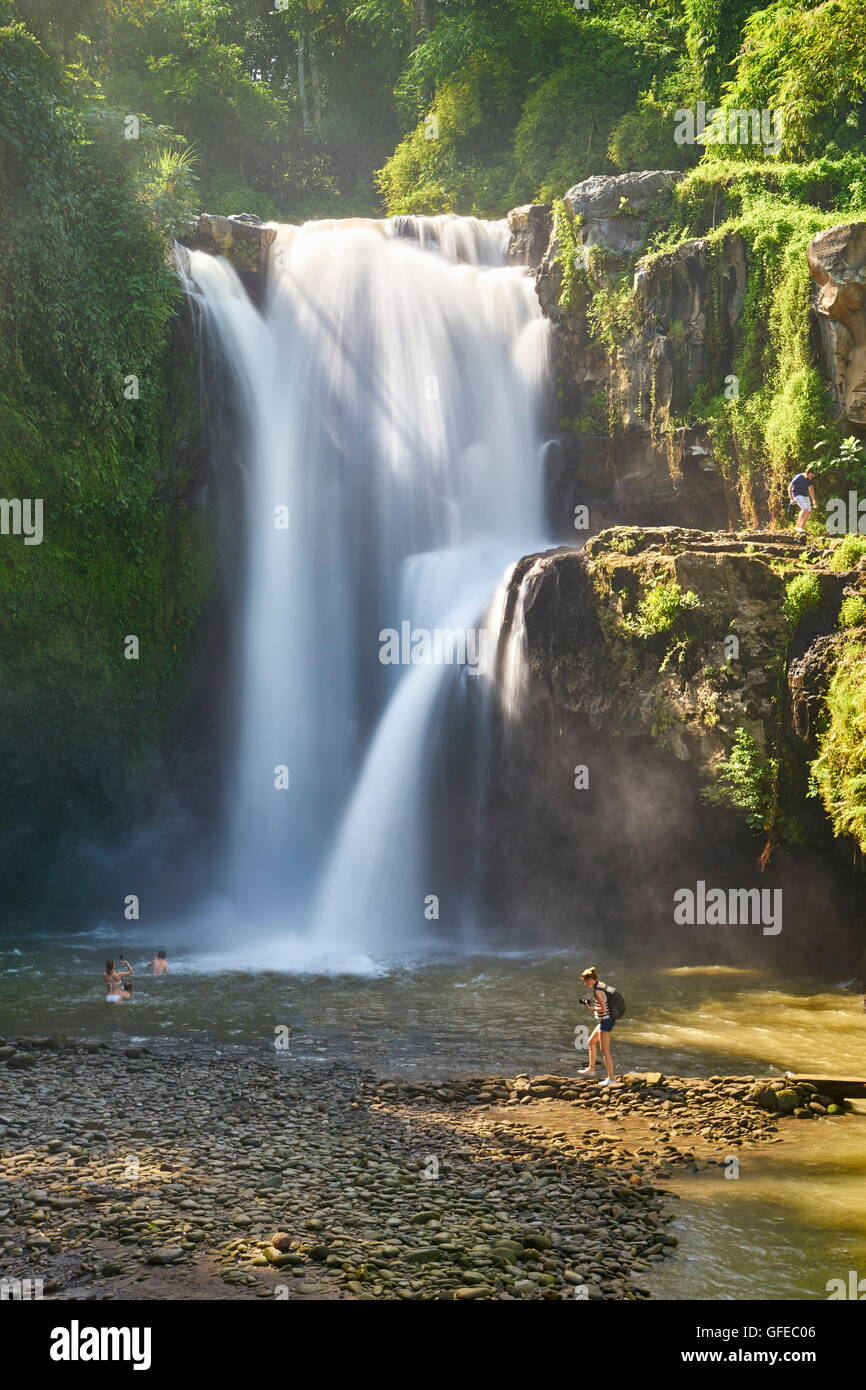 Tegalalang Waterfall near Ubud, Bali, Indonesia - Stock Image