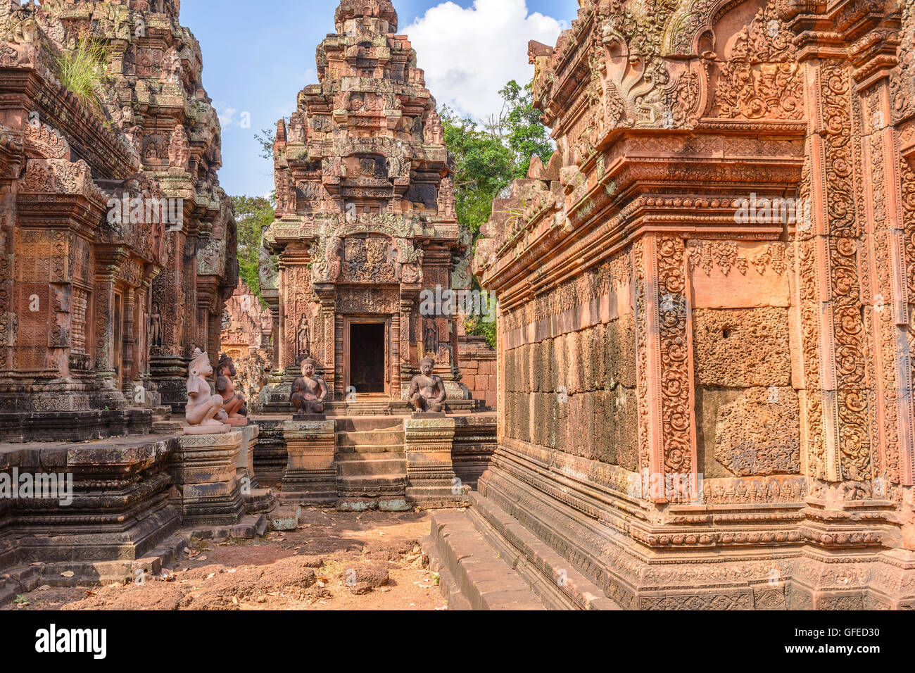 Banteay Srei Temple, Siem Reap, Cambodia - Stock Image