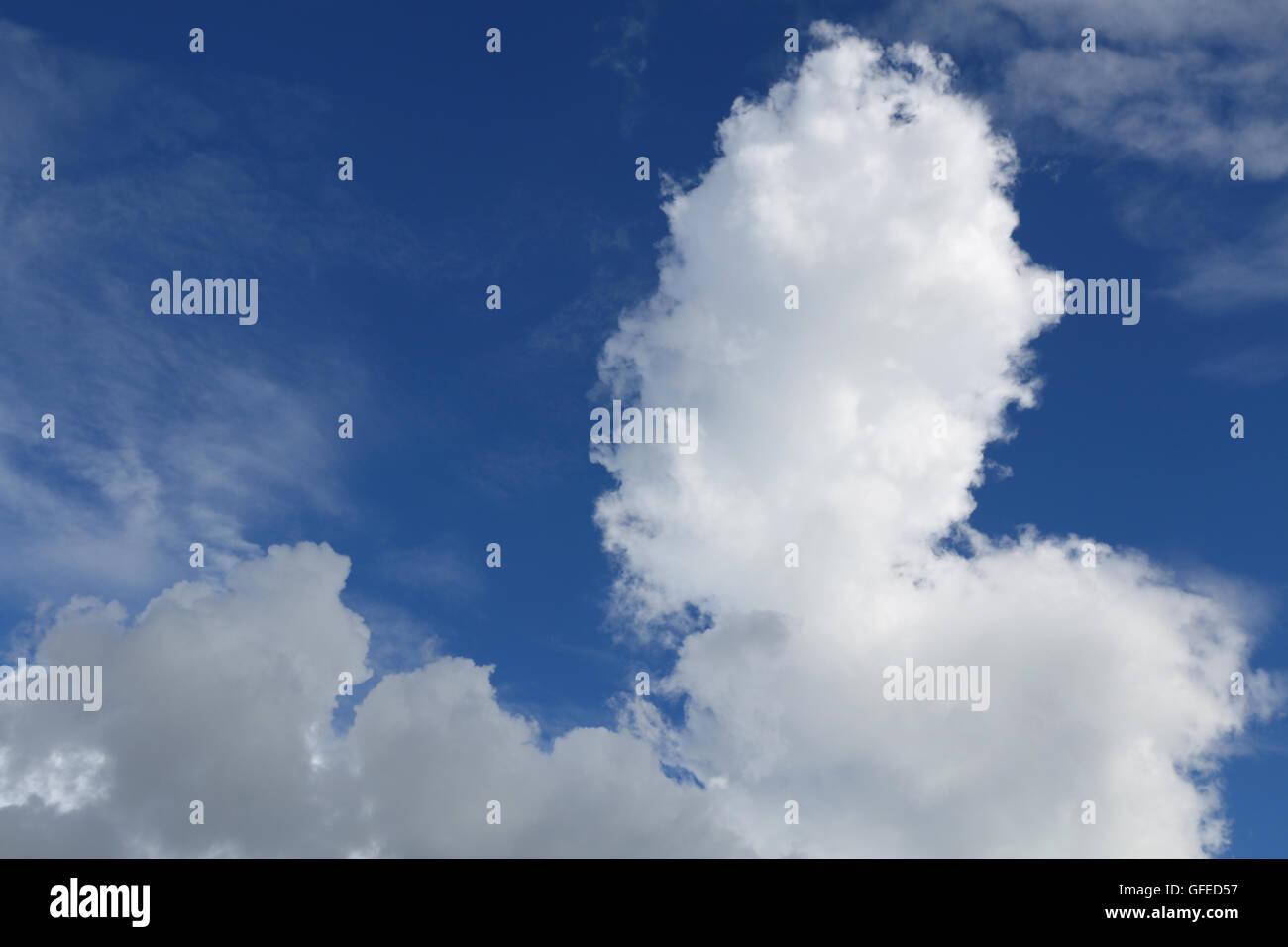 cumulonimbus cloud and blue sky #4 - Stock Image
