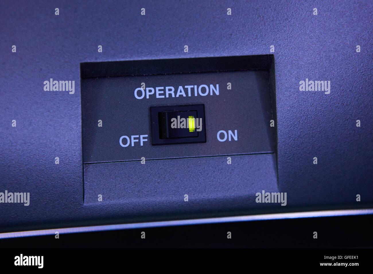 Black toggle switch - Stock Image