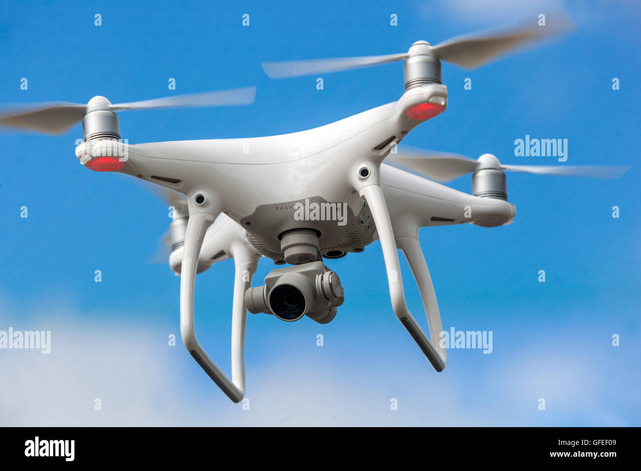drone flying - Stock Image