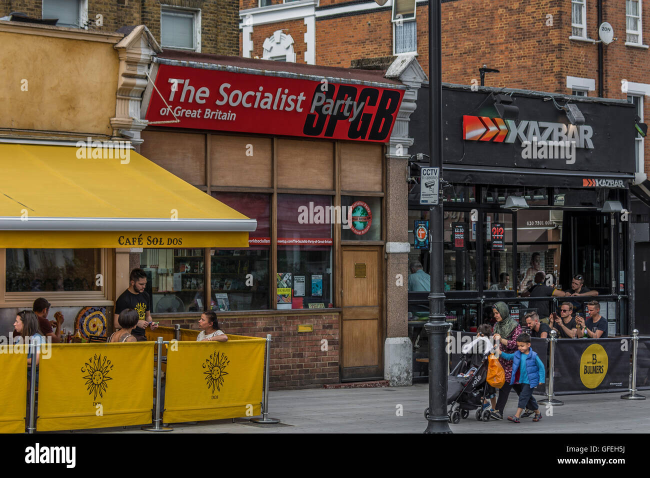 The Socialist Part of Great Britain, Clapham High Street - Stock Image