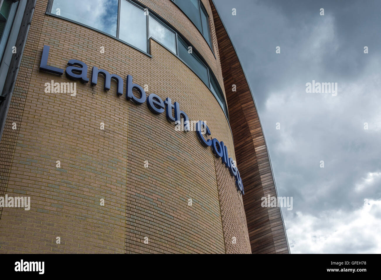 Lambeth College is a Further Education college in the London Borough of Lambeth. - Stock Image