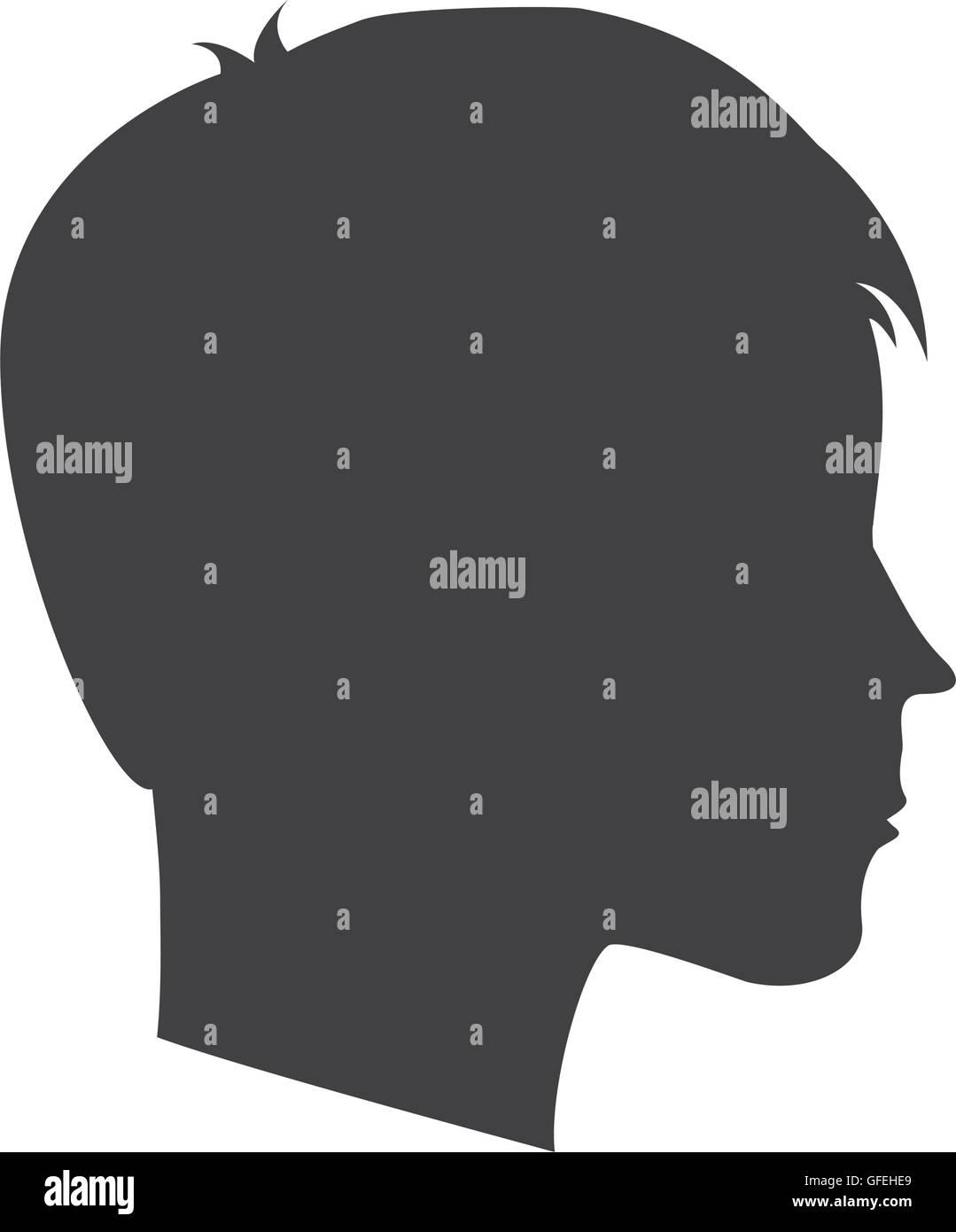 head profile mind icon - Stock Image