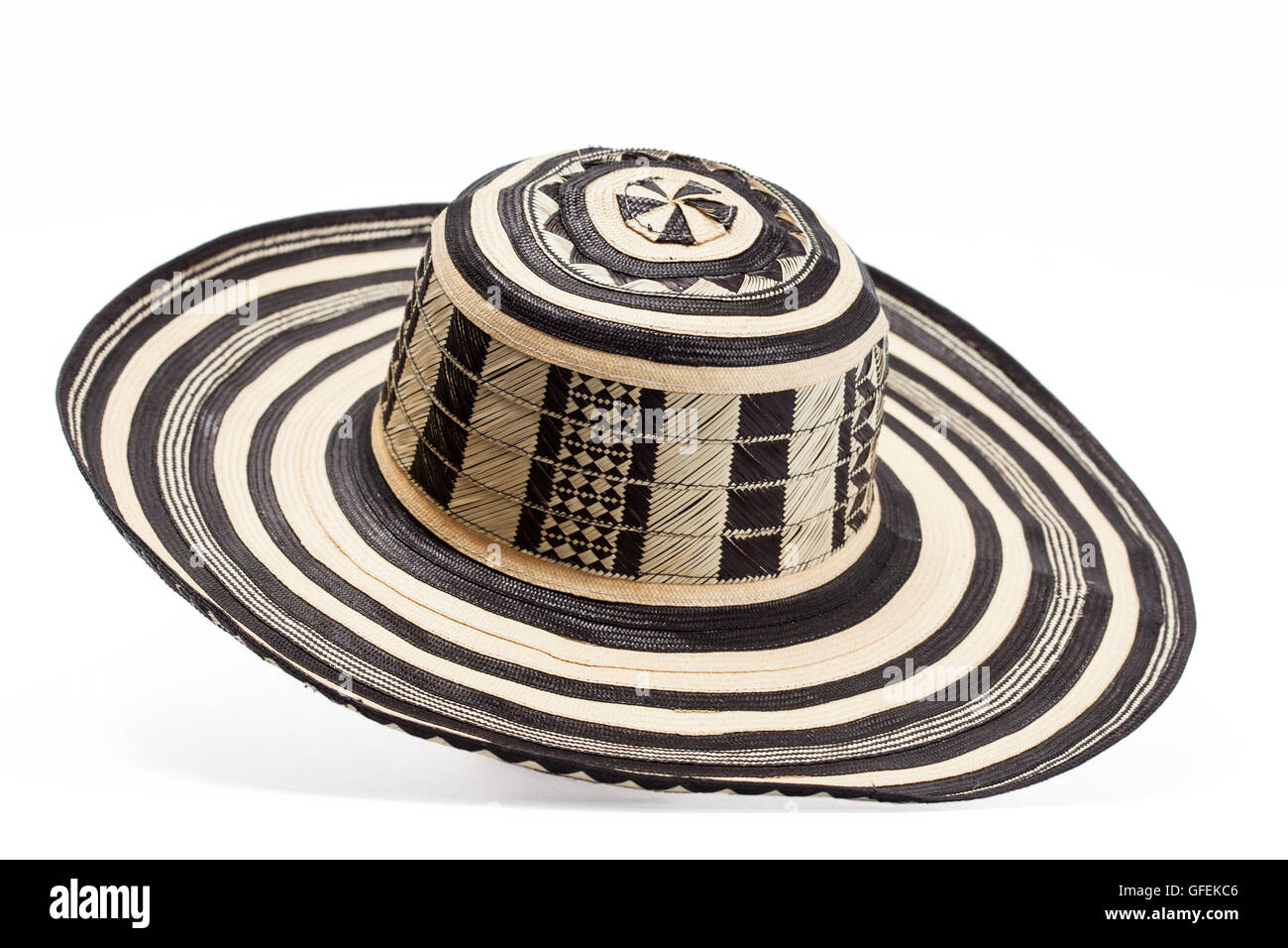 Traditional hat from Colombia   Sombrero vueltiao  - Stock Image 928064be696