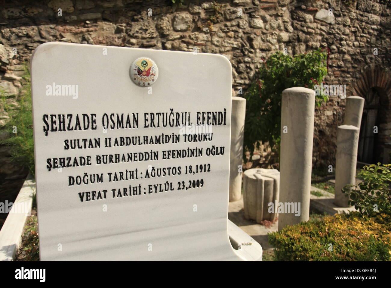 The grave of Ertuğrul Osman / Osman Ertuğrul Osmanoglu, an