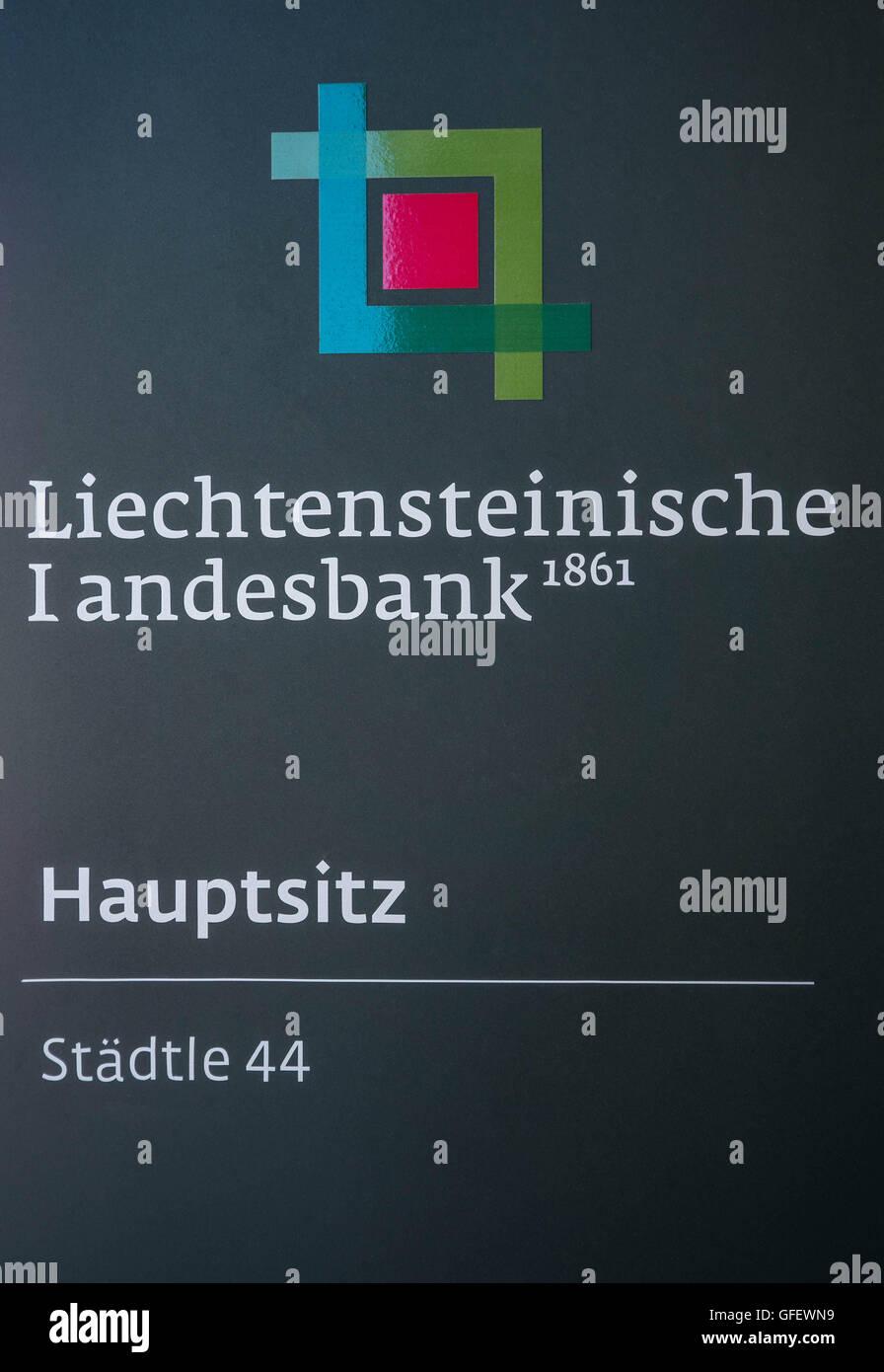 Head office Liechtensteinische Landesbank, Vaduz, Liechtenstein, Europe - Stock Image