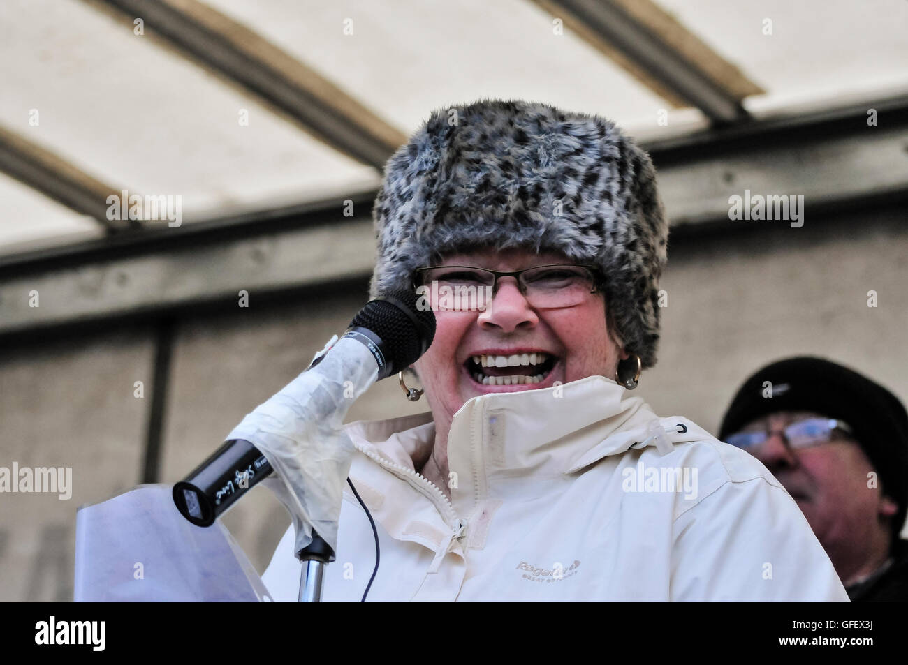 27th January 2013, Derry, Northern Ireland. Kate Nash, family member of one of the victims at the 41st Anniversary - Stock Image