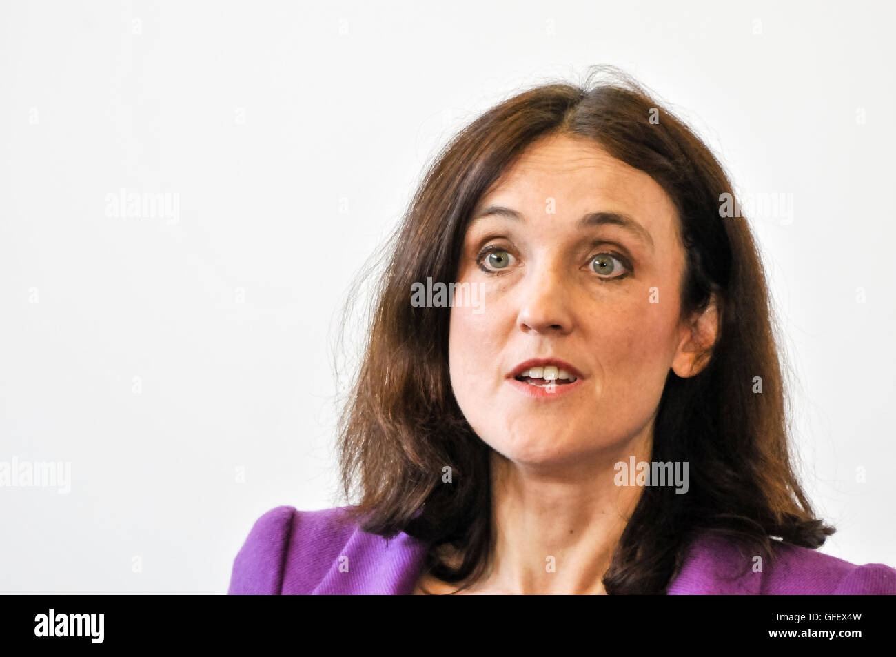 29th April 2013, Belfast, Northern Ireland.  Secretary of State Theresa Villiers - Stock Image