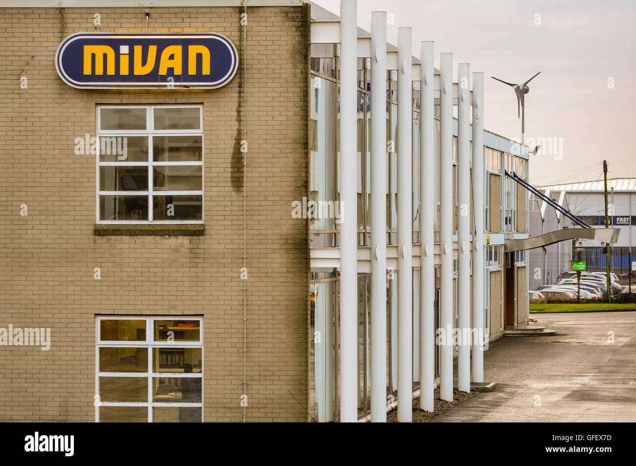 Northern Ireland construction firm Mivan, which has offices around the world, goes into administration. Mivan specialises - Stock Image